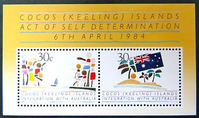 1985 Cocos Keeling Island Stamps - Act of Self Determination - Mini Sheet MNH