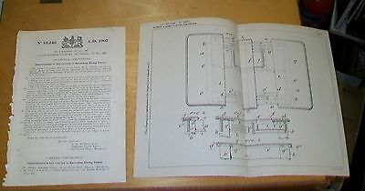 EXTENDING DINING TABLES PATENT. SUTTON & HOWARD of  Manchester. 1908