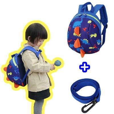 Baby Kids Children Dinosaur Safety Harness Strap Bag Cartoon Backpack with Reins