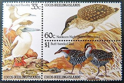 1985 Cocos Keeling Island Stamps - Birds of the Island - Block Set of 3 MNH