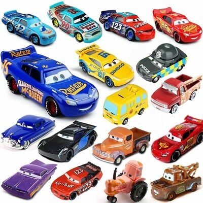 Newest 1:55 The Cars 1/2/3 Racers No.4-No.123 Toy Car Metal Loose Kid Gifts