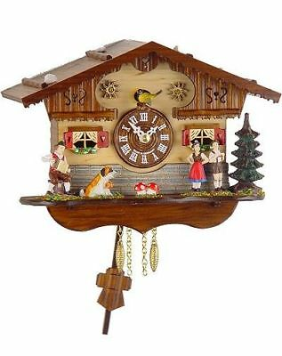 Trenkle 2044 PQ Miniature Black Forest Clock with Battery-Powered Quartzwerk and
