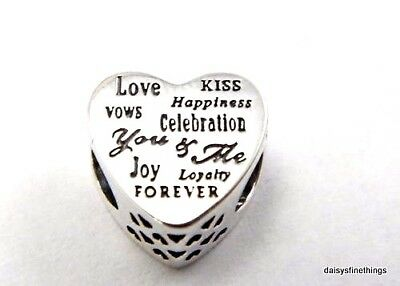 New/tags  Authentic Pandora Silver Charm  Celebration Heart #792060 Retired