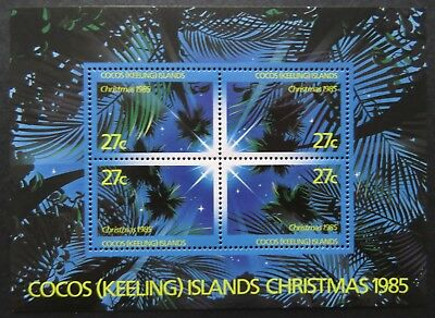 1985 Cocos Keeling Island Stamps - Christmas - Mini Sheet MNH