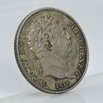1816 6d George III - Silver Six Pence Coin