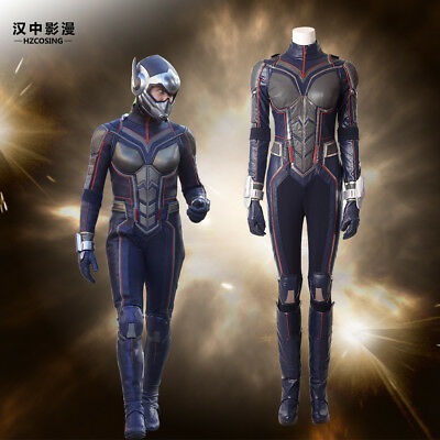 HZYM Ant-Man and the Wasp Hope Van Dyne Cosplay Costume Leather Outfit Customize