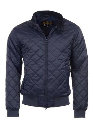 Barbour Men'S  Romer Navy Quilted Jacket Size M Bnwt
