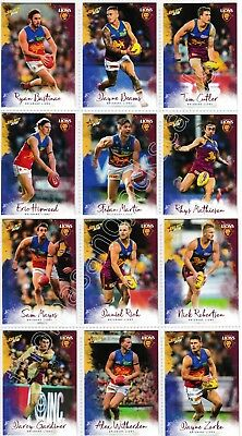 2018 Afl Select Footy Stars Brisbane Lions Common Team Set All 12 Cards