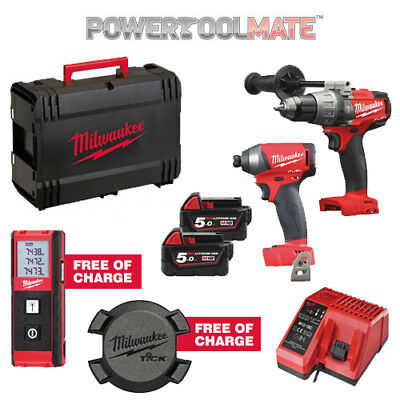 Milwaukee M18FPP2A-502X Special 18V FUEL 2x5Ah Li-ion Twinpack - with Free Items