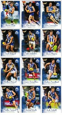 2018 Afl Select Footy Stars North Melbourne Kangaroos Common Team Set 12 Cards