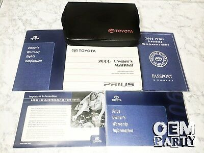 2006 toyota prius owners manual handbook set with leather zipping rh picclick co uk prius owners manual 2007 prius owners manual online