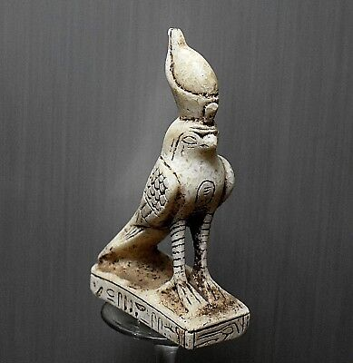 ANCIENT ANTIQUE Egyptian stone GOD of HORUS   (1500–300 BC )