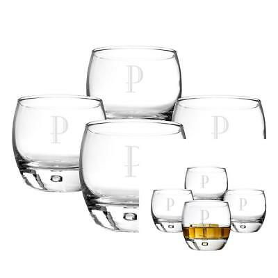 Cathy's Concepts Personalized Heavy Based Whiskey Glasses, Set of 4, Letter P