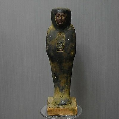 ANCIENT ANTIQUE Egyptian stone USHABTI  (1500–300 BC )