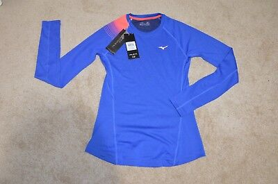 New Mizuno Women s Breath Thermo Base Layer Crew Long-sleeve Size M Fits  Like S 8720af5744