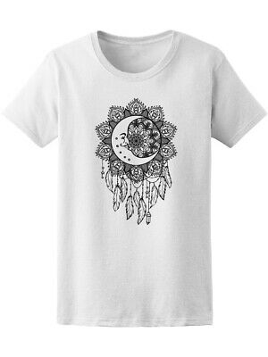 Drawn Crescent Moon Dreamcatcher Women's Tee -Image by Shutterstock