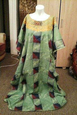 Homemade ladies African embroidery dress free size to fit chest up to 46/48Rins