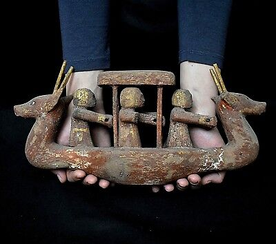 ANCIENT ANTIQUE Egyptian Large wood river boat (300-1500 BC)