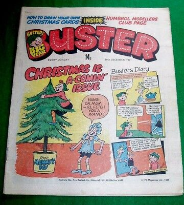 """Buster Comic  """" Christmas Is A Comin """" Issue  19/12/1981"""