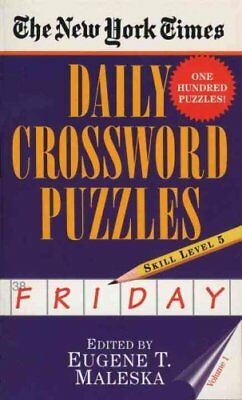 New York Times Daily Crossword Puzzles (Friday), Vo by Maleska 9780804115834