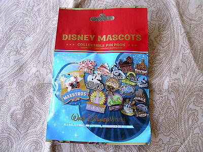 Disney * DISNEY MASCOTS * New & Sealed * 5-pin Collectible Mystery Pin Pack