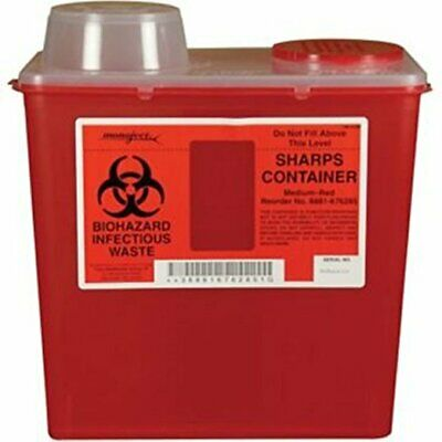 Kendall Healthcare 8881676285 Monoject Sharps Disposable Container Red 8 Quart