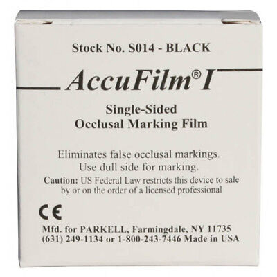 """Parkell S014 AccuFilm I Articulating Film Single Sided Black .0008"""" 280/Bx"""