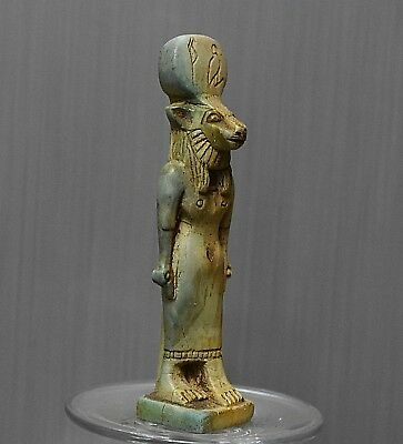 ANCIENT ANTIQUE Egyptian stone statue of the Goddess Sakhmet  (300-1500 BC)