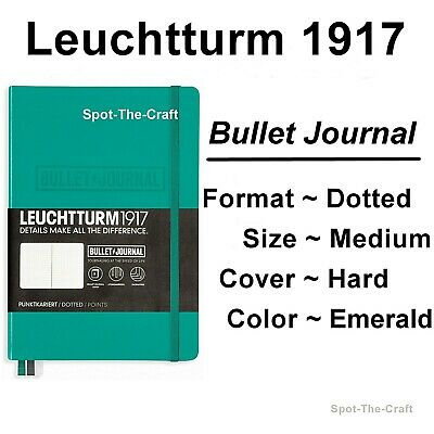 Leuchtturm1917 Bullet Dotted Journal Notebook Medium A5 Emerald Green 355280