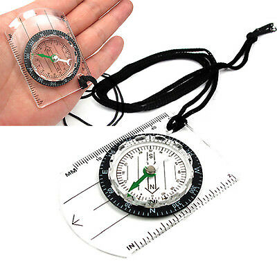 Scouts Military Compass Scale Ruler Baseplate Mini Compass for Camping Hiking UP