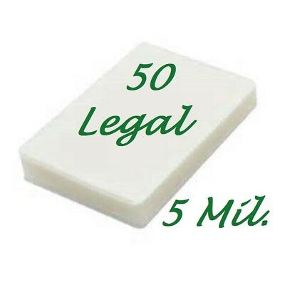 50 Legal 5 Mil Laminating Pouches Laminator Sheets 9 x 14-1/2 Scotch Quality