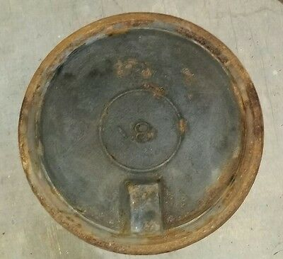 OLD wood stove 8-1/4 inch round cover plate