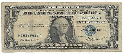 US Rare Very Old WWII War Dollar WW2 USA Silver Certificate Note Collection 105
