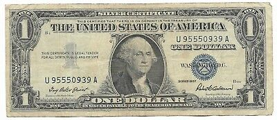 US Rare Very Old WWII War Dollar WW2 USA Silver Certificate Note Collection 107