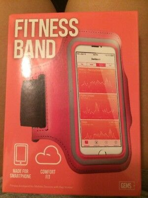 Fitness Band, Made For Smartphone, Comfort Fit, Gems, Pink, New!