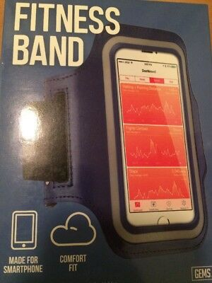 Fitness Band, Made For Smartphone, Comfort Fit, Gems, Dark Blue, New!