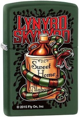 "Zippo ""Lynyrd Skynyrd"" Green Matte Finish Lighter, Full Size,  29054"