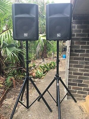 2 x EV Sx100 PASSIVE Speakers with stands