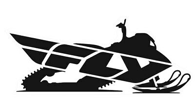 """Fly Racing Snow Snowmobile Trailer Size 45"""" Sticker Decal"""