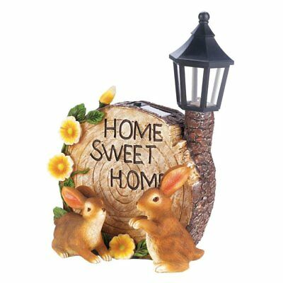 Home Garden Decor, Solar Bunnies Decorative Small Yard Garden Decor Outdoor