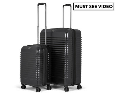 Delsey Bastille Lite 2-Piece 4W Hardcase Luggage Set - Black