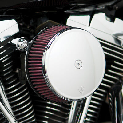 Arlen Ness Big Sucker Stage I Air Filter Kit W/Cover Red Filter Chrome Harley XL