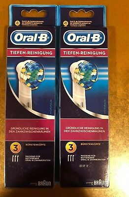 6 Braun Oral B Floss Action Toothbrush Replacement Brush Heads Refill