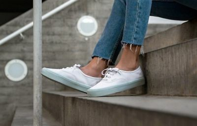 97778532bc31 Vans Authentic Lite Pop Pastel True White Women s Classic Skate Shoes Size 6