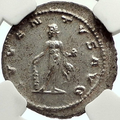 CLAUDIUS II Gothicus Silver Ancient Roman Coin HERCULES Labor APPLE NGC i68457