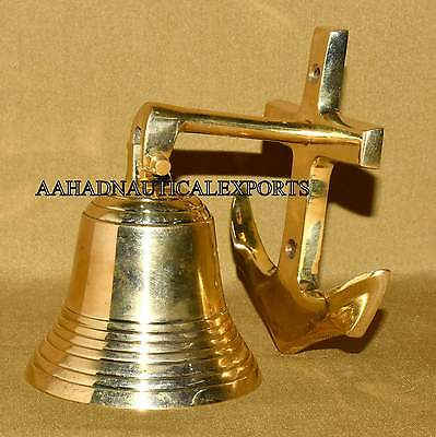 Solid Brass Nautical Style Bell Brass Nautical Anchor Bell