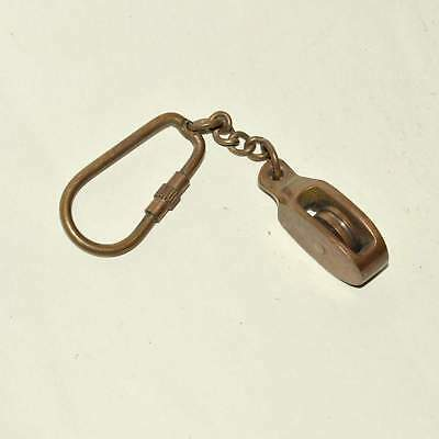 Brass Nautical Pully Key Chain Maritime Vintage Key Ring  A526