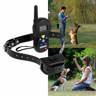 550Yard Waterproof Rechargeable Dog Training Collar Shock Electric Collar Remote
