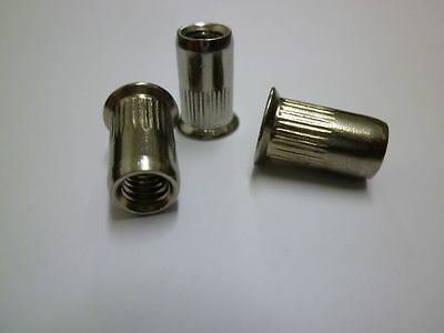 Blind Rivet Nuts M5 M6 Stainless Steel A2 oz Countersink Milled