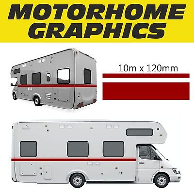Motorhome Vinyl Graphics Stickers Decals 10M Stripes Set Camper Van Fiat Ducato